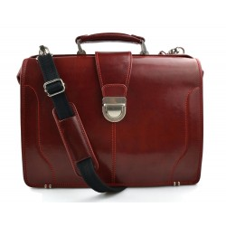Bolso doctor en piel bolso de mano rojo de cuero doctor bag bolso de hombre