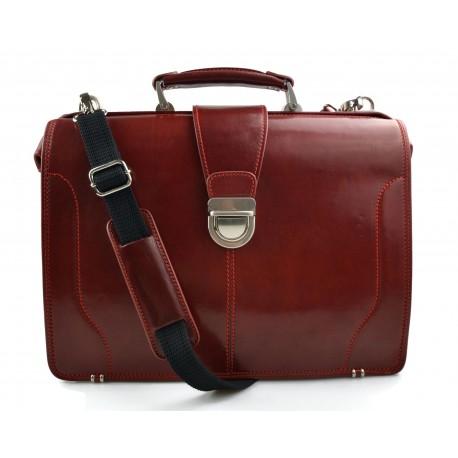 Doctor bag leather mens doctor bag XXL handbag ladies medical bag red