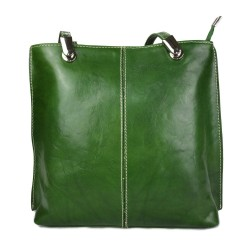 Ladies handbag green leather bag clutch backpack crossbody women