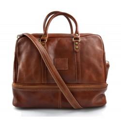 Sac de voyage en cuir homme femme bandoulière en cuir véritable sac de sport sac bagage miel