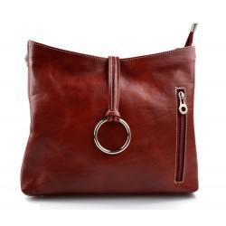Borsa pelle borsello donna a spalla e a tracolla rosso made in Italy vera pelle