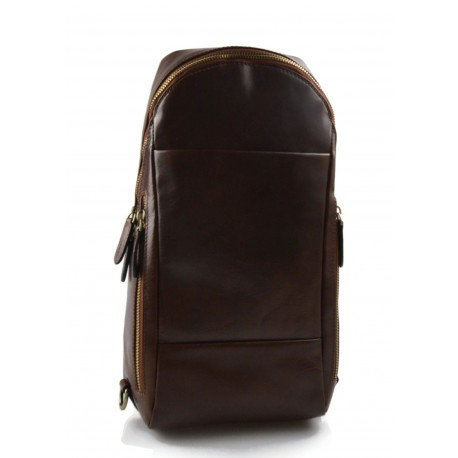 Mens waist leather women shoulder bag ladies hobo bag brown