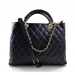 Bolsa cuero mujer bolso espalda en piel mujer bolso bandolera azul oscuro