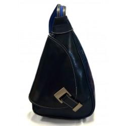 Leder rucksack menner damen leder tasche gürteltasche blau