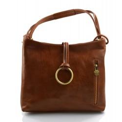 Sacoche femme sac à main cuir sacoche de cuir sac d'èpaule cuir brun mat