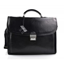 Borsa donna vera pelle borsa a spalla borsa tablet nero