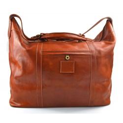 Sac de voyage homme femme bandoulière en cuir véritable sac de sport sac bagage à main miel