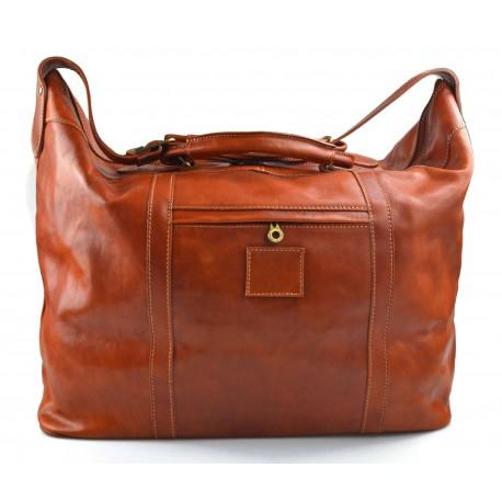 Leather dufflebag XXL weekender honey mens ladies travel duffel gym bag luggage