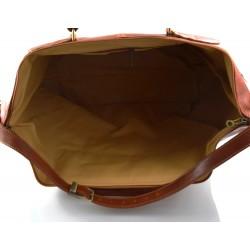 Borsa donna vera pelle borsa a spalla borsa tablet miele