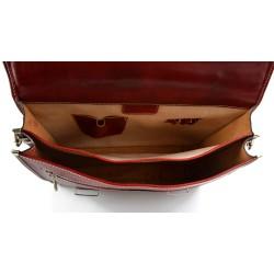 Bolso bandolera de mujer de piel bandolera de cuero bolso de espalda de cuero bolso de piel marrón oscuro bolso espalda
