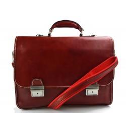 Leder umhängetasche briefträger kuriertasche schultertasche rot