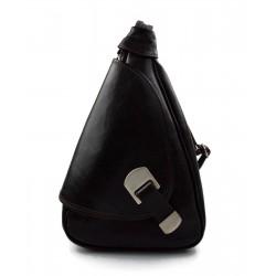 Leder rucksack menner damen leder tasche gürteltasche dunkelbraun