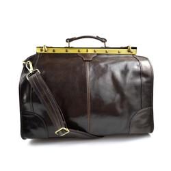 Sac docteur voyage en cuir doctor bag cuir sacoche femme homme brun fonce sac à main en cuir sac femme
