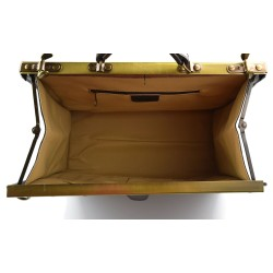 Leather backpack travel bag ladies mens lether weekender dark brown