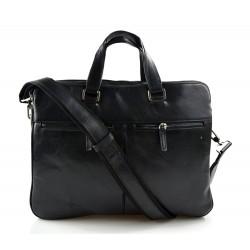Sac cuir d'èpaule sac postier sac en cuir homme femme noir