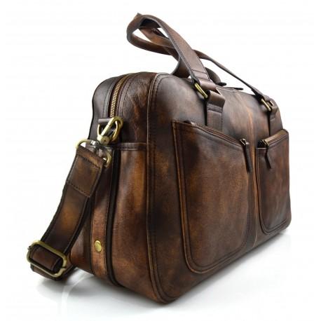 f6fcda5dc8 Ladies leather handbag doctor bag handheld shoulder bag black brown dark  brown made in Italy genuine