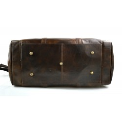 Leather doctor bag mens travel black womens cabin luggage bag leather shoulder bag