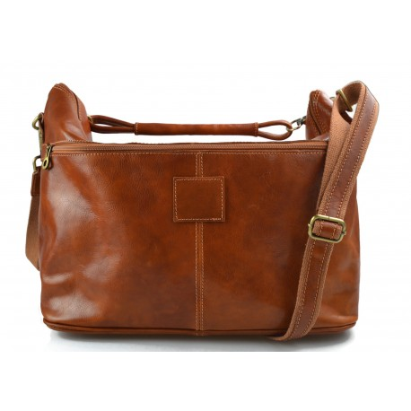 Duffle bag men women leather honey travel bag luggage leather carry on bag