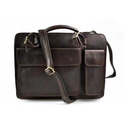 Sac à main cuir bandoulière sac homme femme marron fonce cuir sac d'épaule