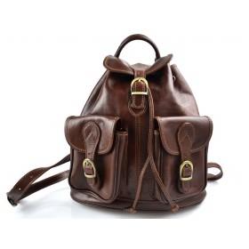 Backpack leather brown backpack genuine leather travel bag weekender sports