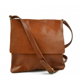 Leather briefcase mens ladies red office shoulderbag