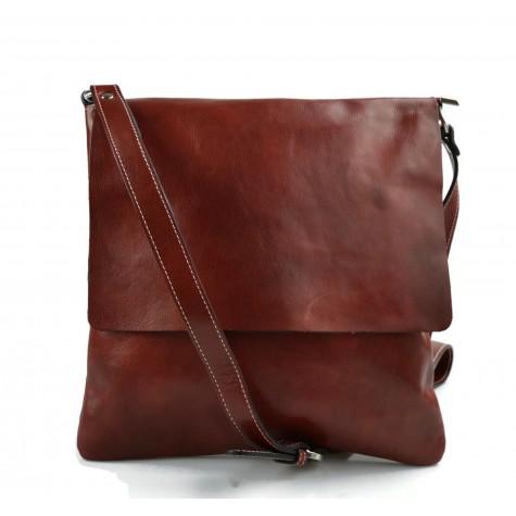 Bandoulière en cuir sac rouge homme messenger sac d'épaule cuir