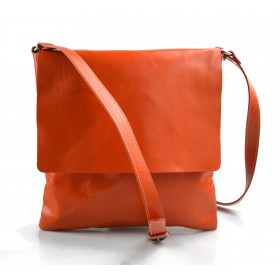 Shoulder bag for men leather orange leather crossbody bag leather