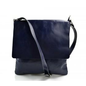 Bandoulière en cuir sac bleu homme messenger sac d'épaule cuir