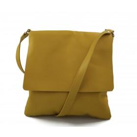 Borsa a tracolla in pelle borsello cuoio da uomo borsa pelle giallo