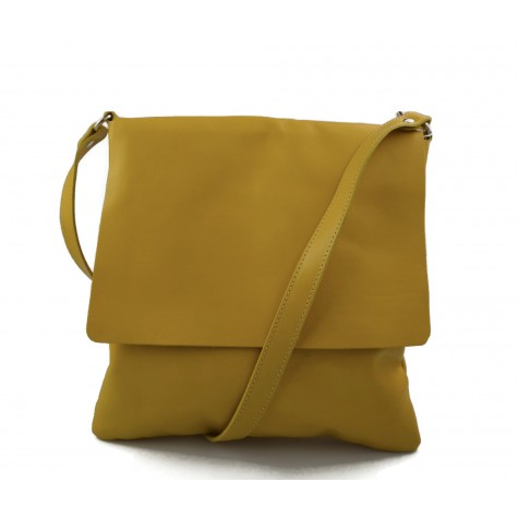 Bandoulière en cuir sac jaune homme messenger sac d'épaule cuir