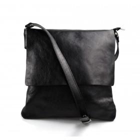Borsa a tracolla in pelle borsello cuoio da uomo borsa pelle nero