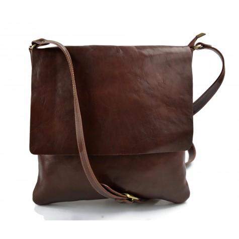 Bandoulière en cuir sac marron homme messenger sac d'épaule cuir