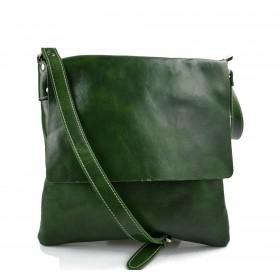 Borsa a tracolla in pelle borsello cuoio da uomo borsa pelle verde