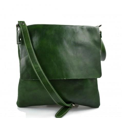 Bandoulière en cuir sac vert homme messenger sac d'épaule cuir