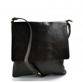 Shoulder bag for men leather dark brown leather crossbody bag leather