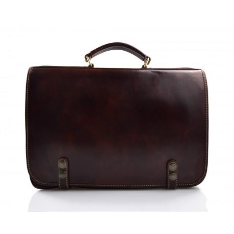 Bolso mochila marron oscuro de cuero bolso de hombre bolso de mujer mochila de piel bolso de espalda de piel bolso bandolera