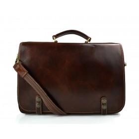 Cartella borsa pelle messenger uomo donna cartella pelle borsa spalla e manico marrone