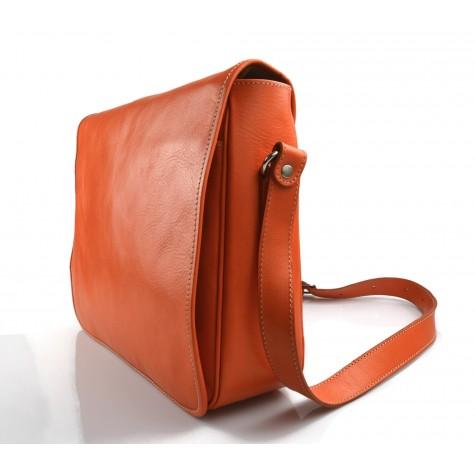 Sac cuir d'èpaule marron fonce sac postier sac en cuir homme femme bandoulière sac de bureau messenger made in Italy
