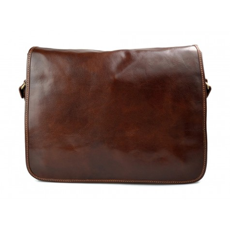 Mens shoulder leather bag shoulderbag genuine leather briefcase messenger blue