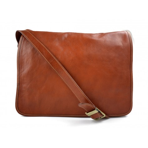 Mens leather bag shoulderbag genuine leather messenger honey business document bag