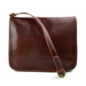 Leather messenger bag mens leatherbag brown shoulder bag