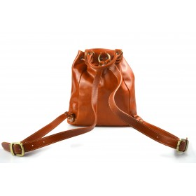 Leather backpack travel bag ladies mens lether weekender black