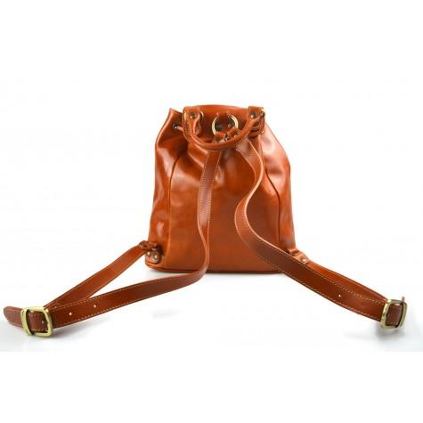 d65ea67269 Leather backpack travel bag ladies mens lether weekender black