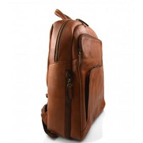 Leather brown backpack genuine leather travel bag weekender sports bag
