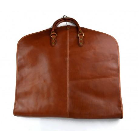 Sac en cuir vêtement cuir de voyage sac fourre-vêtement avec poignées costume sac de vêtement suspendus sac vêtement marron mat