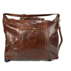 Maleta de cuero bolso de viaje marron con ruedas bolso hombre bolso de cuero