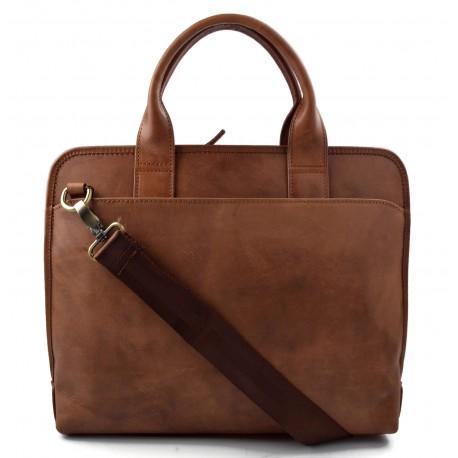 Sacoche de tablet marron sacoche ordinateur portable ipad sac cuir sac à main bandoulière