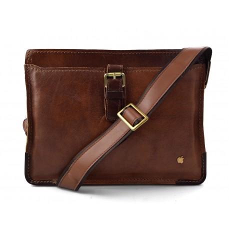 Sacoche de ipad tablet en cuir sacoche portable sac cuir sac à main bandoulière brun
