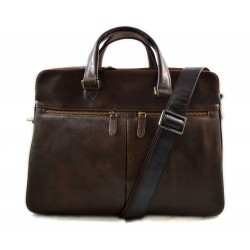 Sac cuir d'èpaule sac postier sac en cuir homme femme brun