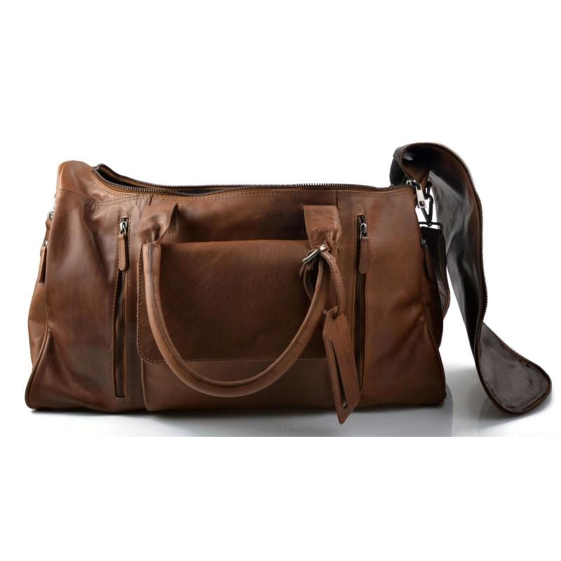 sac de voyage en cuir homme femme bandouli re sac bagage main noir. Black Bedroom Furniture Sets. Home Design Ideas